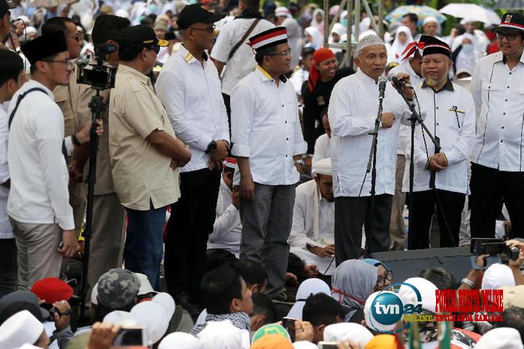 Orasi di Aksi Bela Rohingya, Amien Rais Rezim Jokowi hanya berupa pencitraan